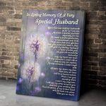 Special Husband Dandelion Wall Art Canvas