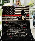 Blanket - Firefighter - To My Husband - I Will Love You Until I Die