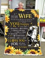 Blanket - Firefighter - To My Wife - You Are My Happy Ever After
