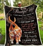Blanket - Cat - To My Wife - I Just Want You That'S All