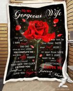 Rose Blanket - To My Gorgeous Wife - The Day I Met You