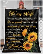 Sunflower Blanket - To My Wife - You Are My Sun, My Moon, My Star