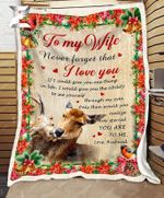 - Fleece Blanket - Deer - To My Wife - How Special You Are To Me
