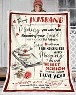 - Custom Fleece Blanket - Nurse - To My Husband - Meeting You Was Fate