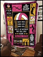 Custom Blanket - Volleyball - Only Real Girls Become