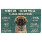 When Visitng My House Please Remember Caucasian Shepherd Dog House Rules Doormat