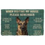 When Visitng My House Please Remember German Shepards House Rules Doormat