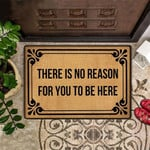 There Is No Reason For You To Be Here Doormat Funny Outdoor Doormat Outside Door Mat Front
