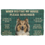 When Visitng My House Please Remember Sheltie House Rules Doormat