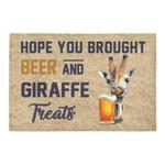 Hope You Brought Beer And Giraffe Treats Doormat