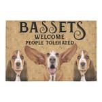 Bassets Welcome People Tolerated Doormat