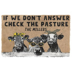 If We Dont Answer Check The Cow Pasture Doormat