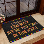 Check Ya Energy  African American Easy Clean Welcome Doormat