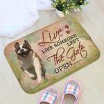 Live Like Someone Left The Gate Open St Bernard Doormat