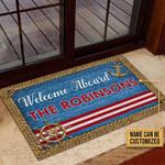 Sailor Welcome Aboard The Robinsons Custom Doormat