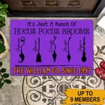 Personalized Halloween Gift Witch Brooms Doormat Its Just A Bunch