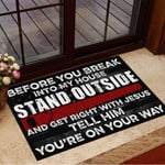 Woodworker Before You Break Into My House Doormat Hand Saw Woodworking Cool Gift For Men
