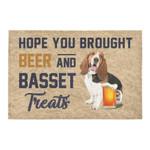 Hope You Brought Beer And Basset Hound Treats Doormat