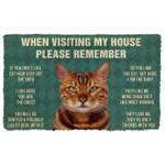 When Visitng My House Please Remember Bengal Cat House Rules Doormat