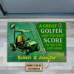 Personalized A Great Golfer And The Best Score Of His Life Live Customized Doormat