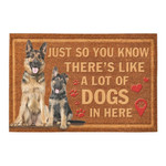 Just So You Know Theres Like A Lot Of German Shepherds In Here Doormat
