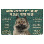 When Visitng My House Please Remember German Spitz Dogs House Rules Doormat
