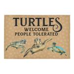 Turtles Welcome People Tolerated Doormat