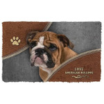 Love American Bulldog Doormat
