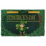 Happy St Patrick Day Leprechaun Doormat