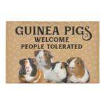 Guinea Pigs Welcome People Tolerated Doormat