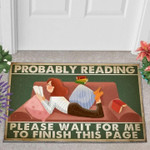 Probably Reading Please Wait For Me To Finish This Page Door Mat