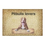 Welcome Funny Pitbulls Lovers Yellow Doormat