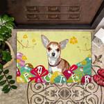 Chihuahua Easter Doormat Easter Cute Welcome Mat Indoor Front Door Mat Decorative