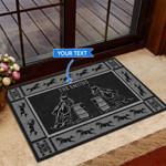 Barrel racing - Black Version Funny Outdoor Indoor Wellcome Doormat