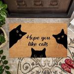 Hope You Like Cats Funny Outdoor Indoor Wellcome Doormat