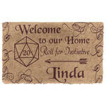 3D D D Welcome To Our Home Custom Name Doormat