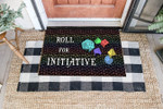 Game DnD Initiative Coir Pattern All Over Printing Funny Outdoor Indoor Wellcome Doormat