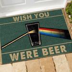 Beer Doormat Wish You Were Beer  Welcome Mat  House Warming Gift