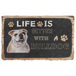 3D Life Is Better With A Bulldog Custom Doormat