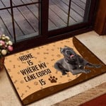 Home is Where My Cane Corso is Funny Outdoor Indoor Wellcome Doormat - Funny Outdoor Indoor Wellcome Doormat