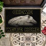 Black Chewie Were Home Doormat  Welcome Mat  House Warming Gift