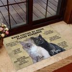 Custom Cat Funny Outdoor Indoor Wellcome Doormat