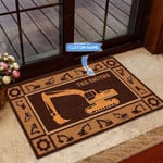 Excavator - Funny Outdoor Indoor Wellcome Doormat