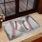Baseball Metal pattern print Baseball Doormat  Welcome Mat