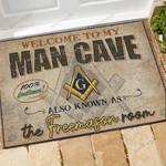 Freemasonry Doormat The Freemason Room  Welcome Mat  House Warming Gift