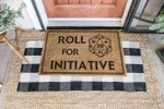 Game Roll For Initiative Doormat  Welcome Mat  House Warming Gift