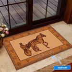 Harness Racing Funny Outdoor Indoor Wellcome Doormat