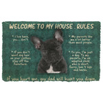 Gearhuman 3D French Bulldog Welcome To My House Rules Custom Doormat