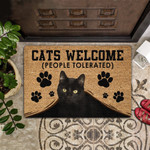 Cats Welcome People Tolerated Doormat  Welcome Mat  House Warming Gift