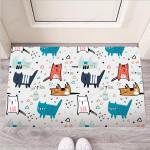 Cute Cartoon Doodle Cat Print Funny Outdoor Indoor Wellcome Funny Outdoor Indoor Wellcome Doormat
